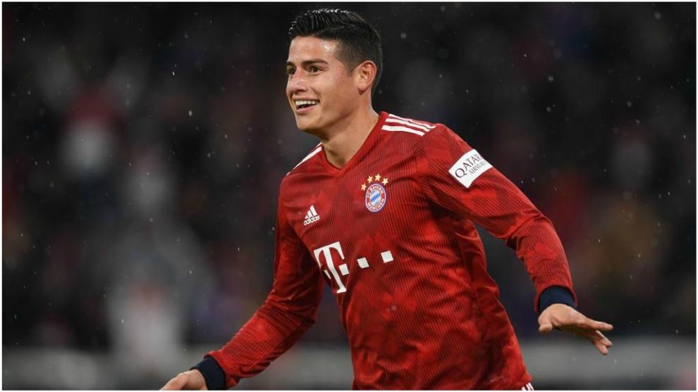 James, en un partido con el Bayern en la Bundesliga.
