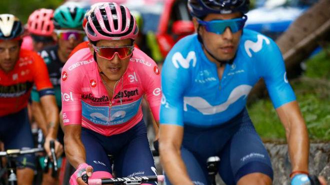 Landa y Carapaz en plena etapa 19 del Giro
