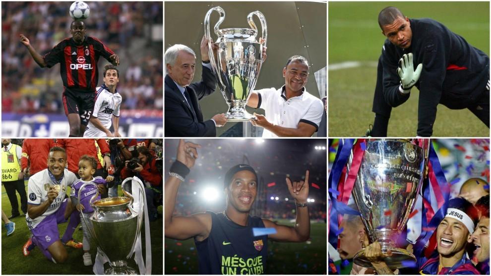 Roque Junior, Cafú, Dida, Danilo, Ronaldinho y Neymar.