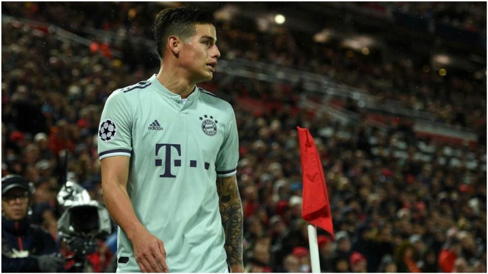 James, en un partido con el Bayern de la pasada temporada.