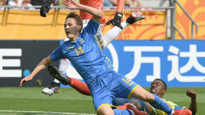 El momento fatídico del gol ucraniano