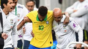 Neymar, tras lesionarse ante Qatar
