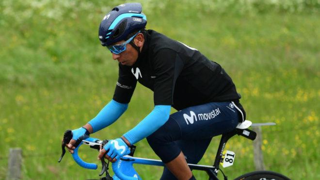 El colombiano Nairo Quintana está a 24 segundos del liderato en...