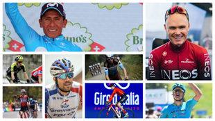 Quintana, Froome, Dumoulin, Yates, Porte, Bardet, Fuglsang, y Pinot