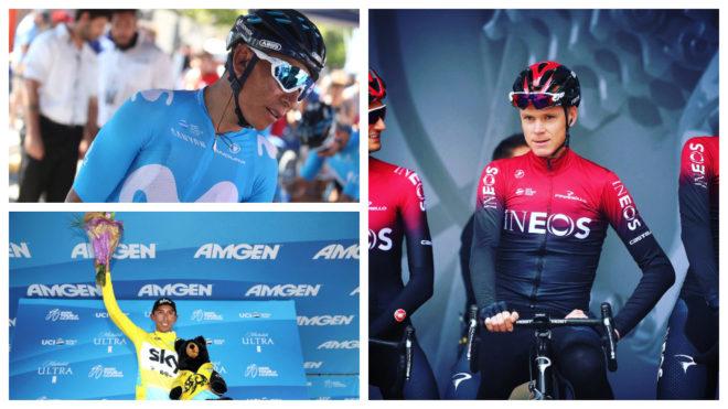 Nairo Quintana, Egan Bernal y Chris Froome