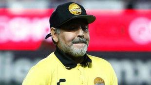 Diego Maradona, exentrenador de Dorados de Sinaloa.