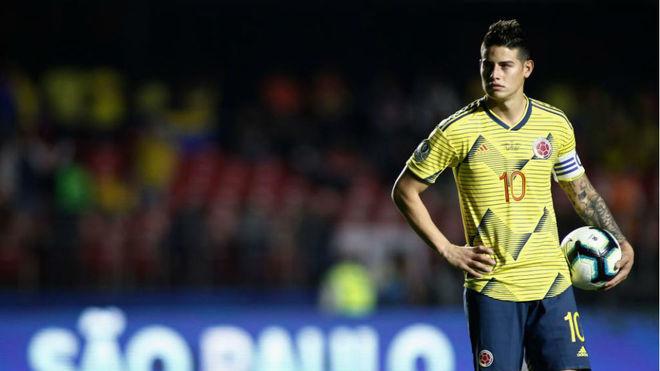 James, durante el partido ante Qatar
