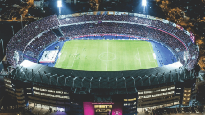 Panorámica del estadio la Nueva Olla de Cerro Porteño.