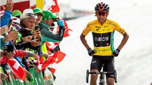Egan Bernal, el día de su victoria en la Vuelta a Suiza