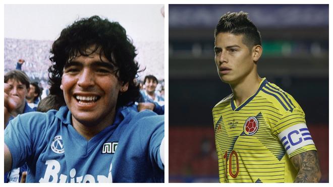 Maradona da el 'o.k' al fichaje de James por el Nápoles