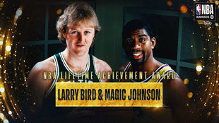 Larry Bird vs Magic Johnson, dos legendarios en la historia de la NBA