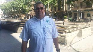 Juan Fernando Mejía posa para MARCA en la zona de Goya, en Madrid.