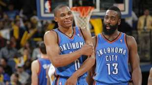 Westbrook y Harden, en su época en Oklahoma