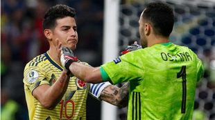 James y Ospina durante la pasada Copa América