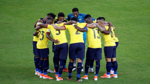 La selección de Ecuador, el día que empataron ante Japón.