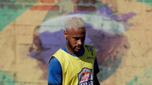 Neymar, en un partidillo