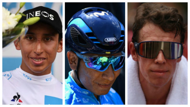 Egan, Nairo y Rigo en pleno Tour de Francia 2019