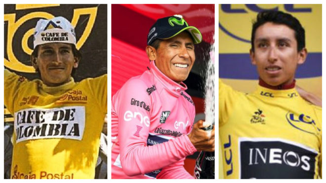 Lucho Herrera, Nairo Quintana y Egan Bernal