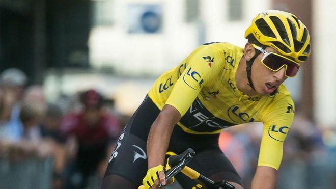 Egan Bernal en el Tour de Francia.