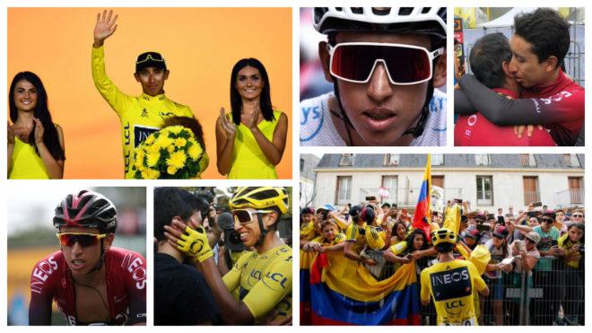 Egan en imágenes y su espectacular victoria en la 'Grande Boucle'...
