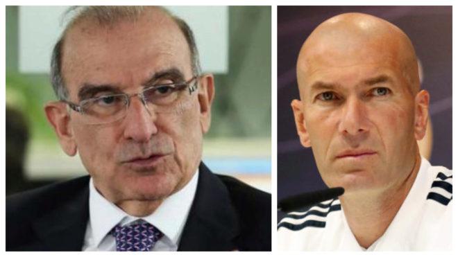 """""""James es un héroe nacional y Zidane lo tiene en la 'seca y la..."""