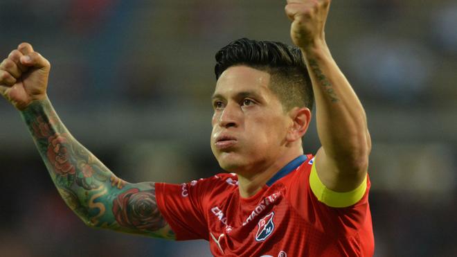 Germán Cano, delantero argentino que milita en Medellín.