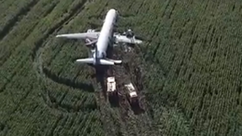 Un Airbus A312 aterrizó de emergencia sin dejar ninguna víctima mortal — Rusia
