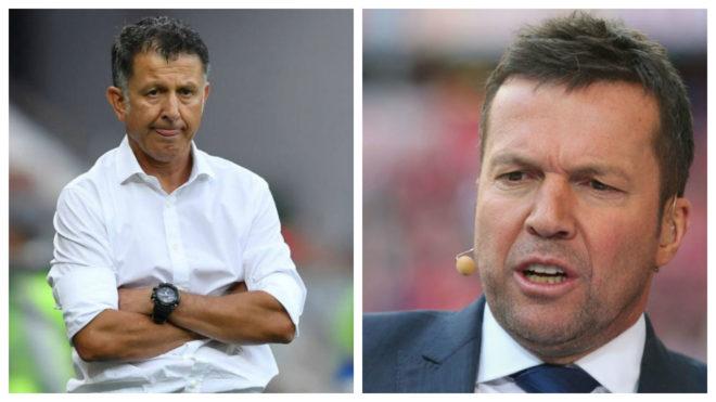 Juan Carlos Osorio y Lothar Matthaus