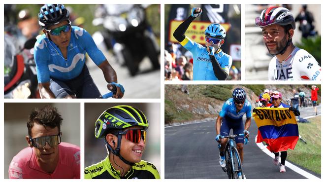 Quintana, Superman, Gaviria, Urán, Chaves y Carapaz