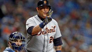 Miguel Cabrera, pelotero de los Tigres de Detroit.