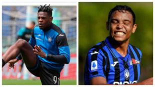Duván y Muriel, futbolistas colombianos que militan en Atalanta.