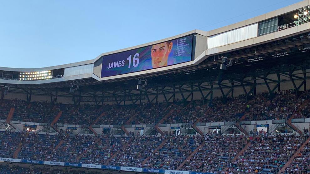 El Bernabéu cuando sonó James por megafonía.