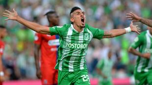 aniel Muñoz de Atlético Nacional, celebra el gol anotado a Deportivo...