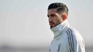 Emre Can, durante un entrenamiento con la Juventus