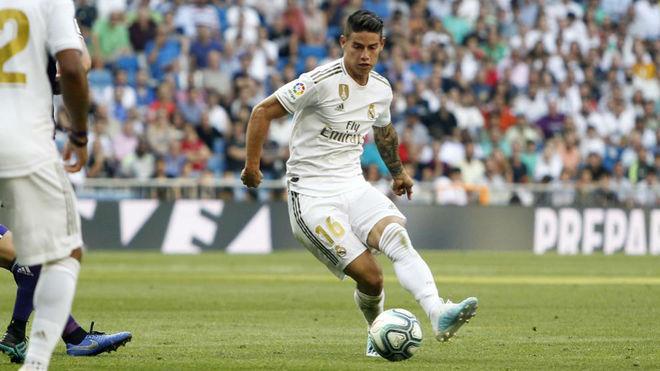 James, durante el partido ante el Valladolid