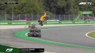 El aparatoso accidente de Fórmula 3