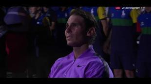 Rafael Nadal y su emotivo momento después del partido final