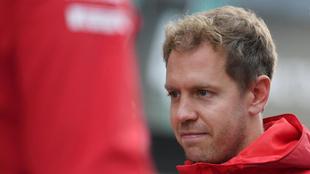 El alemán Vettel antes de entrar en acción