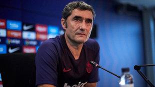 Valverde en la rueda de prensa.