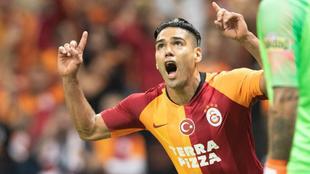 Falcao celebra su primer gol con Galatasaray