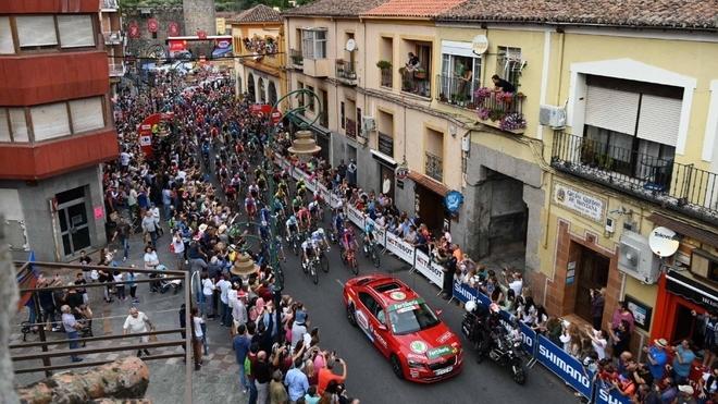 Salida de la etapa 20 de La Vuelta