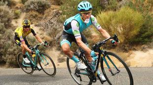Superman durante la etapa 20 de La Vuelta