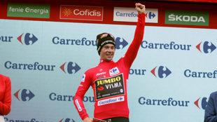 Roglic en el podio español / La Vuelta