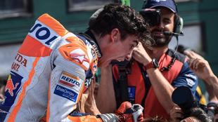 Márquez celebrando una gran victoria