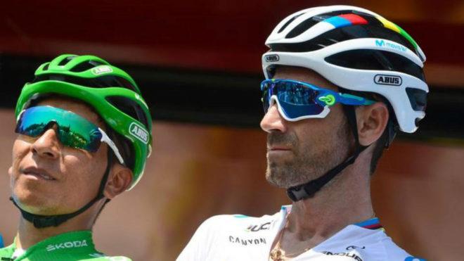 Valverde junto a Nairo en La Vuelta 2019