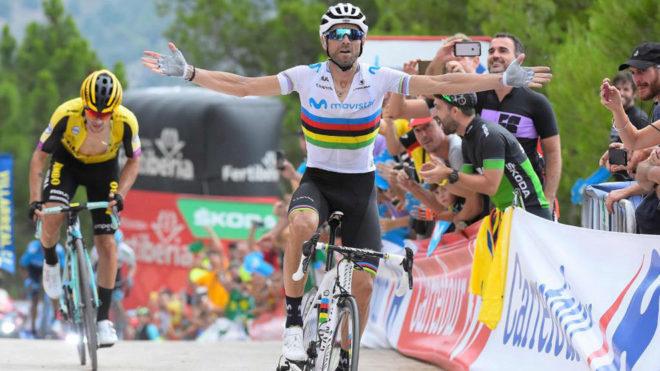 Valverde y su triunfo en Valderrobres en La Vuelta 2019