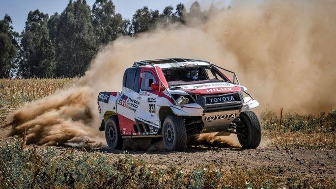 El Toyota en plena acción