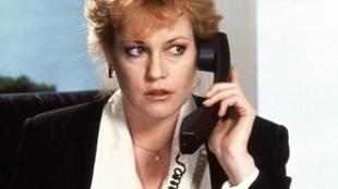 Melanie Griffith en 'Armas de mujer'.