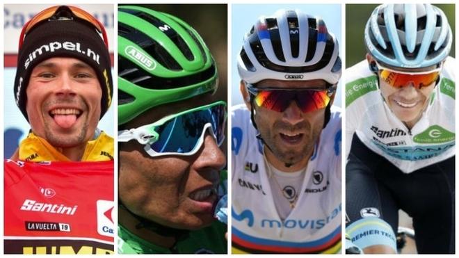 Roglic, Nairo, Valverde y Superman