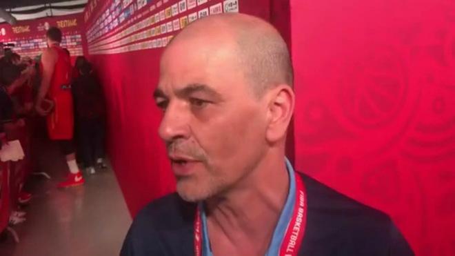 Sergio Hernández, entrenador de la derrotada argentina
